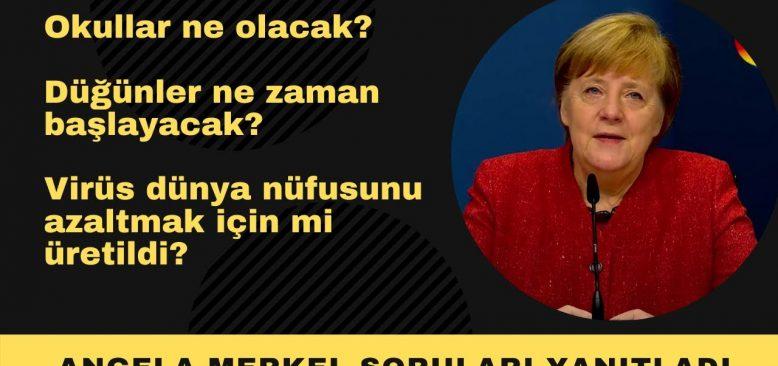 Merkel merak edilen soruları yanıtladı