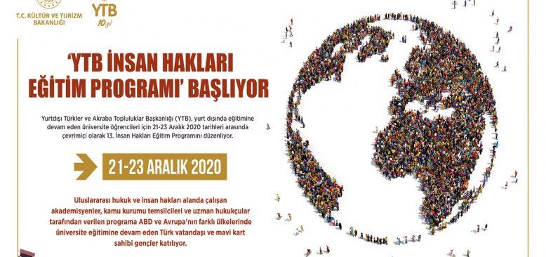 YTB'den yurt dışındaki gençlere çevrimiçi İnsan Hakları Eğitim Programı