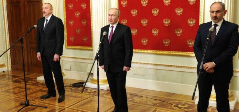 Putin Azeri ve Ermeni Liderlerle Görüştü