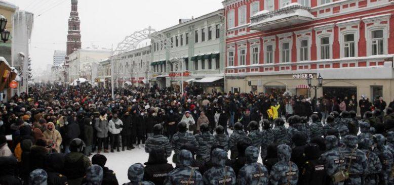 Rusya'da Muhalif Lider Navalny'ye Destek Gösterileri