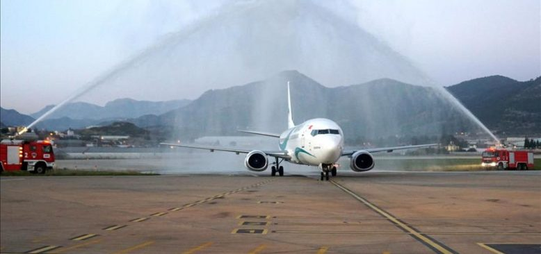 Gazipaşa-Alanya Havalimanı ilk Tahran uçuşunu karşıladı