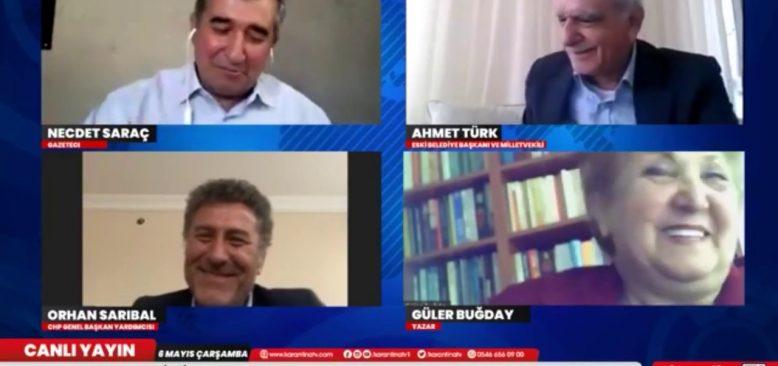 Ahmet Türk ve Orhan Sarıbal'dan kardeşlik türküleri söylediler