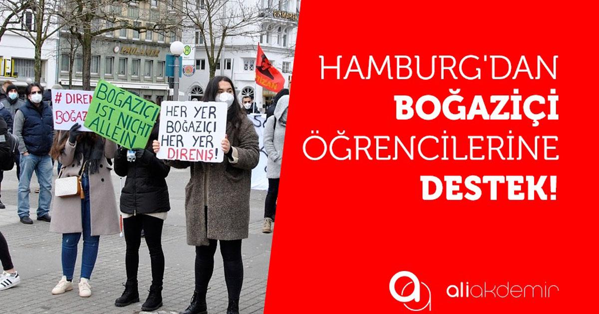 Hamburg'dan Boğaziçi Öğrencilerine Destek Gösterisi