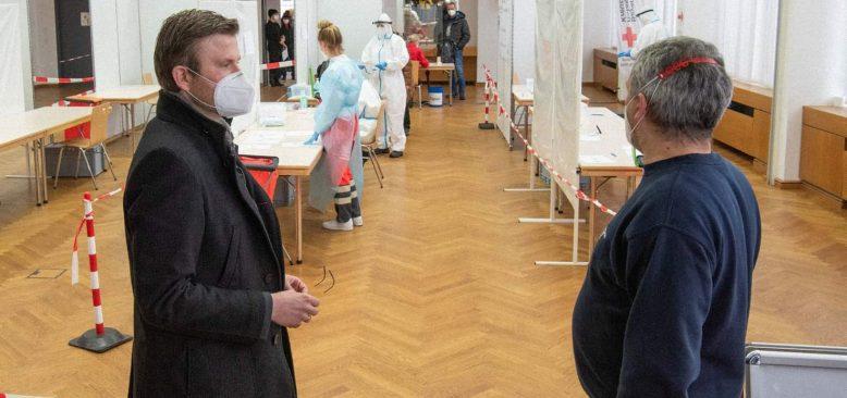 Nürnberg'de hızlı test merkezi açıldı