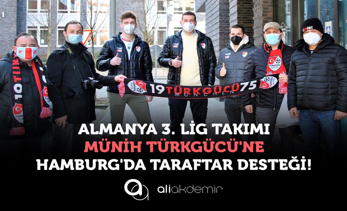 Almanya 3. Lig Takımı Münih Türkgücü'ne Hamburg'da Taraftar Desteği