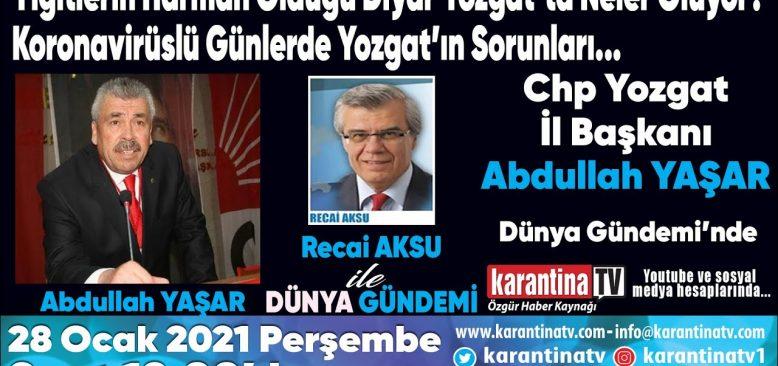 Yiğitlerin Harman Olduğu Diyar Yozgat'ta neler oluyor?