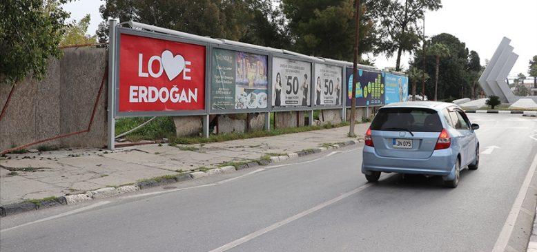 KKTC'deki reklam panolarına 'Love Erdoğan' afişleri asıldı
