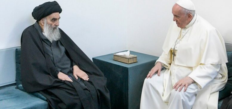 Papa Şii Lider El Sistani ile Görüştü