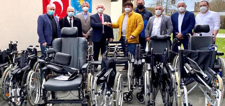 Kıbrıs'a tekerlekli sandalye yardımı