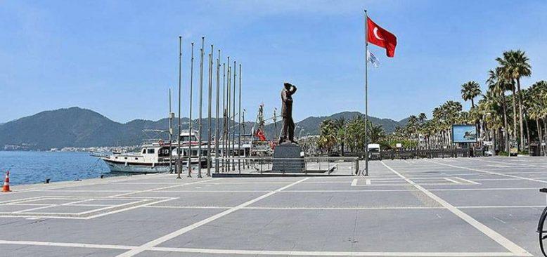 Turizm merkezleri Antalya ve Muğla'da 'tam kapanma' sessizliği sürüyor