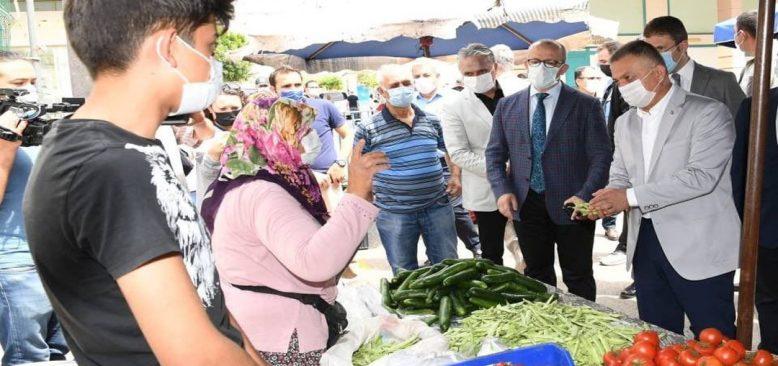Antalya ve Burdur Valileri pazarları denetledi