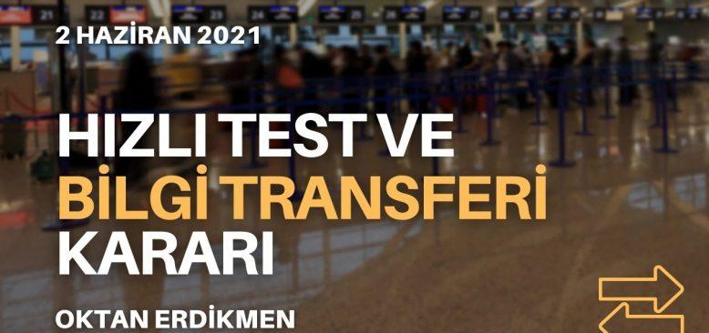 Hızlı test ve bilgi transferi açıklaması