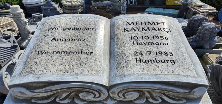 Irkçılık kurbanı Mehmet Kaymakcı anısına anıt heykel