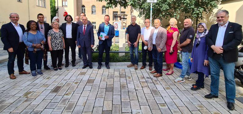 Fürth'de, Göçün 60.yılında misafir işçilere şükran anıtı açıldı