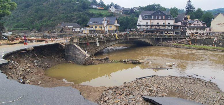 Sel felaketi için 100 bin Euro bağış yapıldı