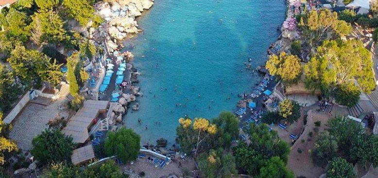 Akdeniz'in 'doğal havuzu' Yapraklı Koy tatilcilerin gözdesi oldu