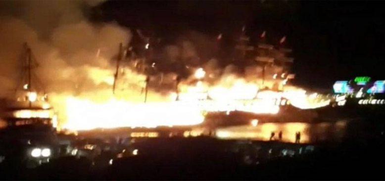 Alanya Türkler'de şok! Tur tekneleri yandı mı yakıldı mı?