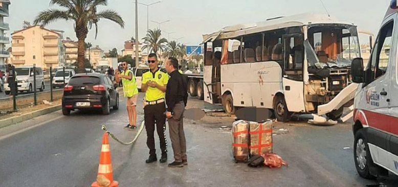 Antalya'da 3 kişi öldü, 16 kişi yaralandı