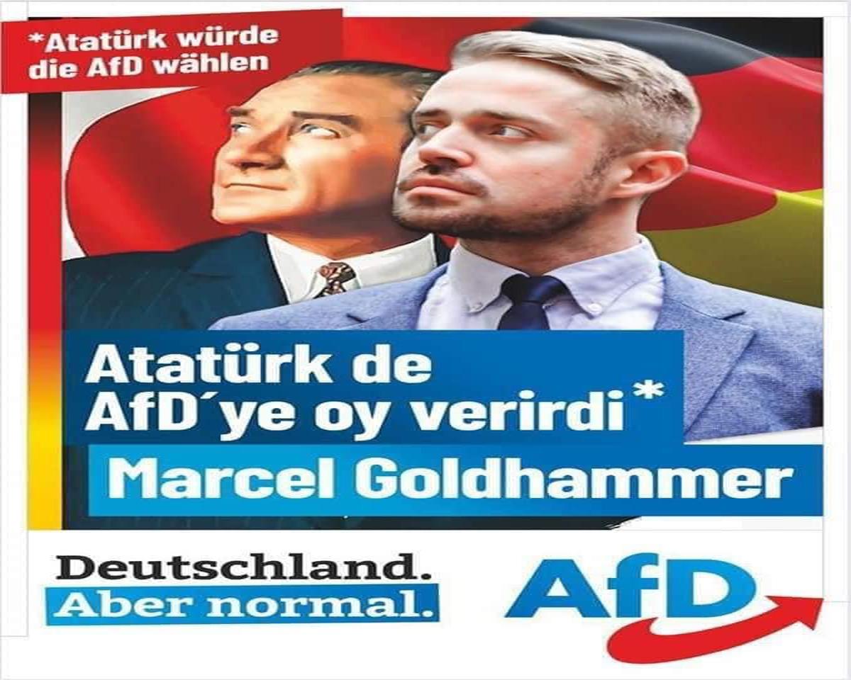 Irkçı AfD`nin Atatürk'ün ismi ve resmini kullanmasına tepkiler büyüyor