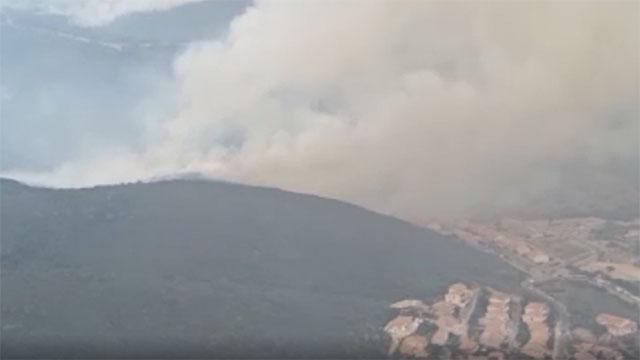 Sicilya adası orman yangınlarıyla mücadele ediyor