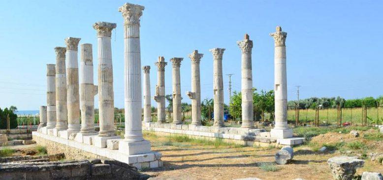Soli Pompeipolis Antik Kenti kazılarında şair Aratos'un anıt mezarının geçidine ulaşıldı