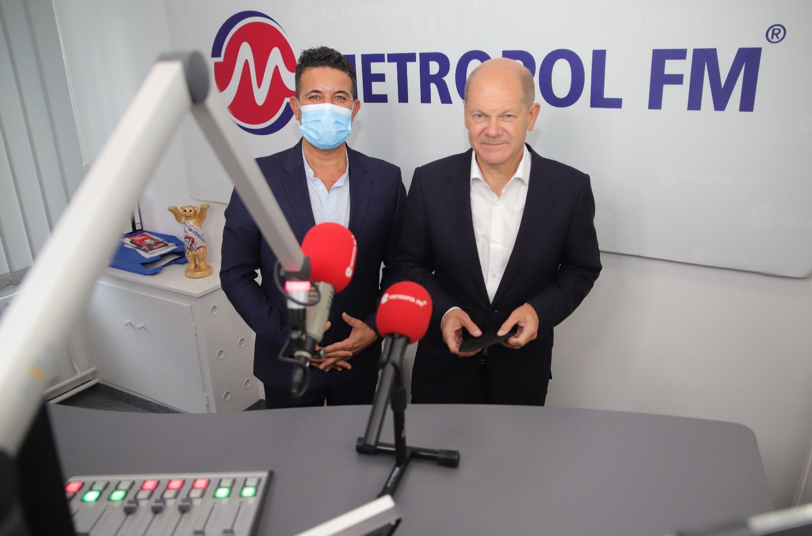 SPD'nin Başbakan Adayı Olaf Scholz Metropol FM'i Ziyaret Etti