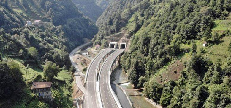 Rize'nin ulaşım standardı yeni yol ve tünellerle yükseliyor