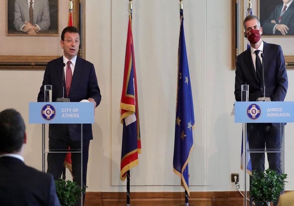 Ekrem İmamoğlu, Yunanistan Başbakanı Kiryakos ile bir araya geldi