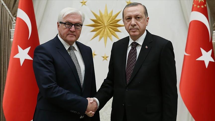 Erdoğan, Almanya Cumhurbaşkanı ile telefonda görüştü