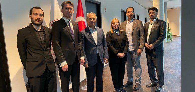 NETU Berlin Yönetimi T.C. Berlin Ticaret Müşavirlerini ziyaret etti