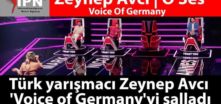 O ses Almanya yarışmasında jüriyi ayakta alkışlatan Zeynep Avcı