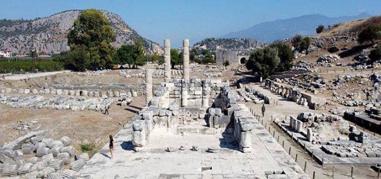 UNESCO Dünya Miras Listesi'ndeki Letoon ile Xanthos Antik Kenti fotoğraflandı